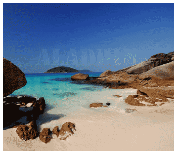 Granite rocks of the Similan Islands. These rocks create the special landscape and atmosphere of the Similan Islands, as well above- as underwater..
